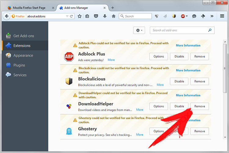 firefox-extensions Redirect.redpop.pro