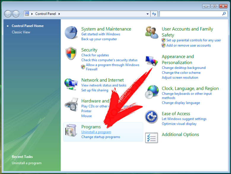 win7-control-panel Mac Adware Cleaner